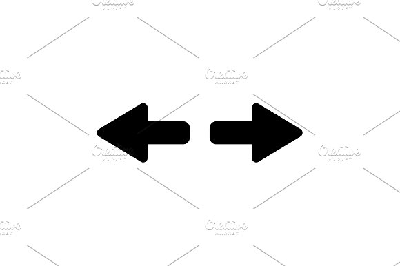 Arrow To Left And Right Vector