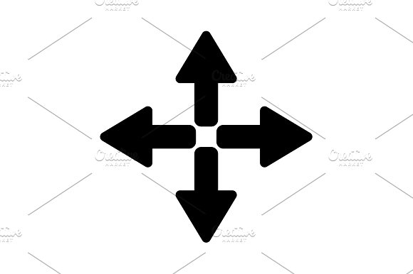Symbol Arrows Vector Black On White