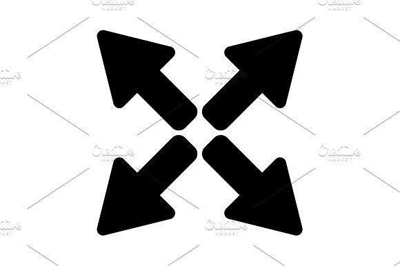 Arrows Icon Vector Illustration
