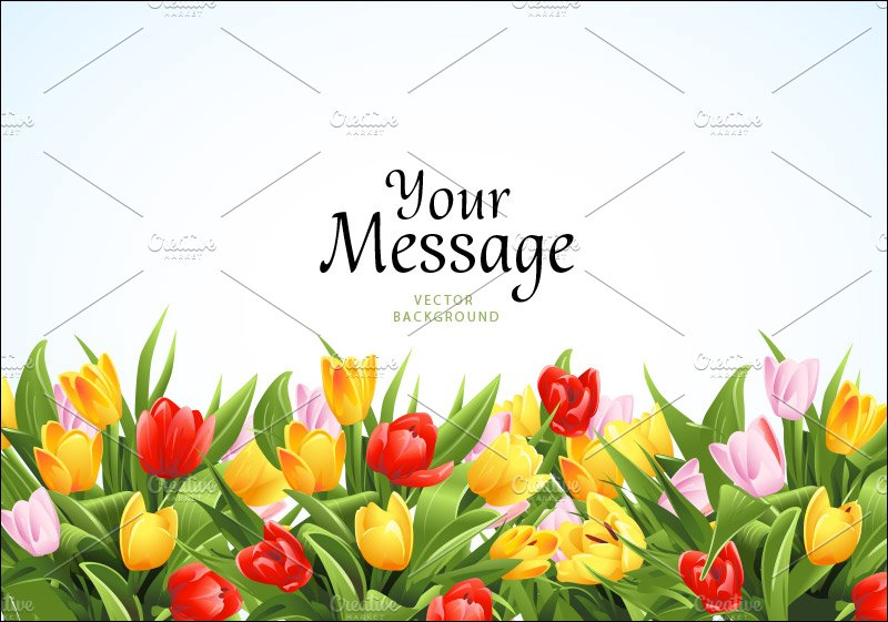 flower background with tulips graphics creative market