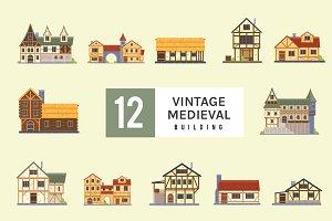 Vintage Medieval Building Pack