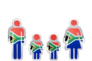 People icon with South Africa flag
