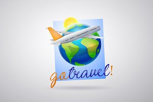 Travel agency logo. Air travel