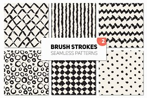 Brush Strokes. Seamless Patterns v.2