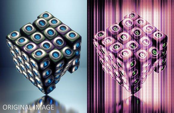 Duotone Strips Photoshop Action Set