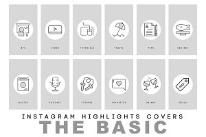 Modern Instagram Highlight Covers Graphics Creative Market