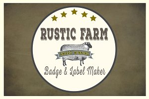 Rustic Farm Easy Badge & Label Maker