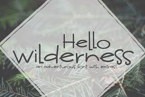NEW! Hello Wilderness Sans Font