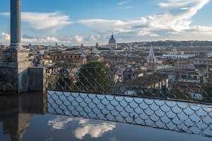 Skyline of the city of Rome, Italy