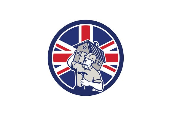 British Building Contractor UK Flag