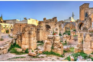 Ruins of the Roman temple in el Kef, Tunisia