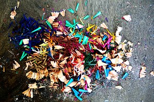 Color Pencil Shavings
