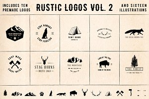 Rustic Logos Volume 2 AI EPS PNG PSD