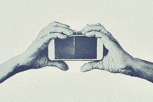 Heart Hand Phone