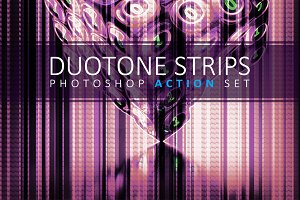 Duotone Strips Photoshop Action Set