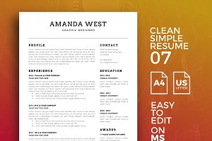 Resume Template 07