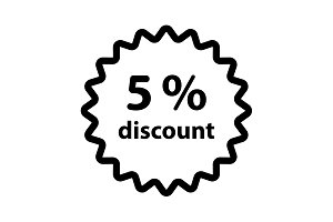 Discount five (5) percent circular