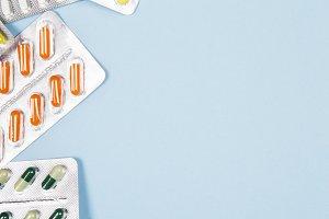 Various medicine pills