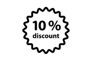 Discount ten (10) percent circular