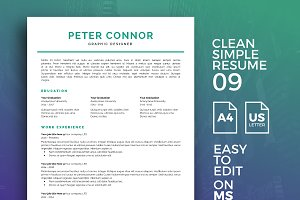 Resume Template 09