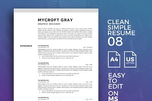 Resume Template 08