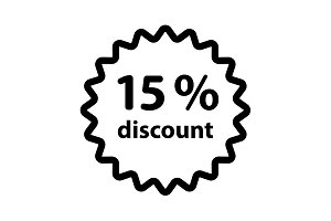 Discount fifteen (15) percent