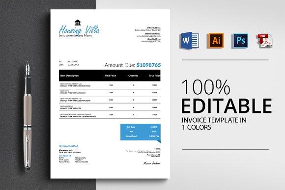 Professional Invoice 4 Format
