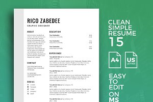 Resume Template 15