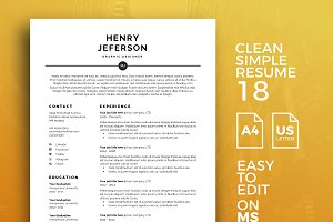 Resume Template 18