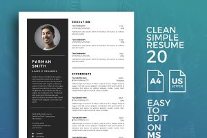 Resume Template 20