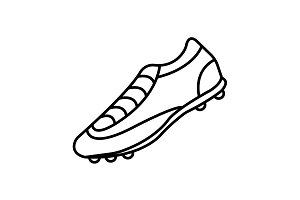 Soccer boots label - vector