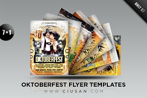 Oktoberfest Flyer Template Bundle