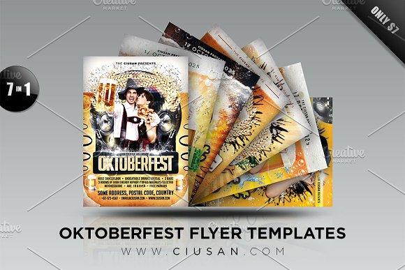 Oktoberfest Flyer Template Bundle