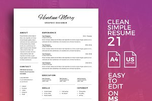 Resume Template 21