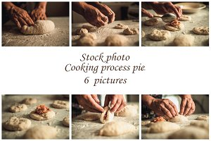 Stock photo process of making pies