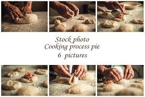 Stock photo process of making pies