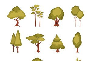Forest elements set