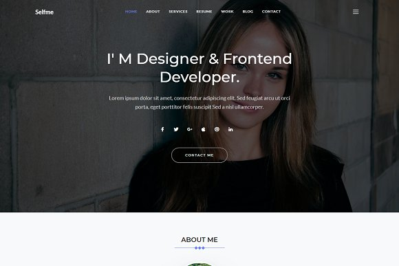 Selfme Responsive Personal Template