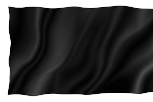 Black fabric on white background