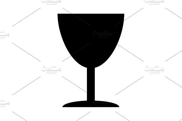 Icon Of Fragile Symbol Black