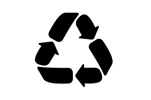 Recycle sign isolated. vector