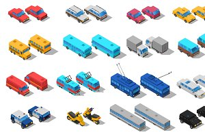 City public transport isometric icon