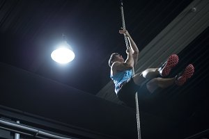 Rope training in gym