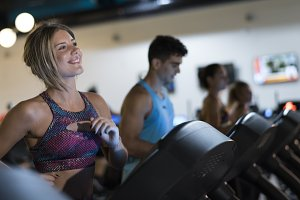 cardio training in gym