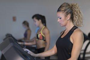 cardio training in gym