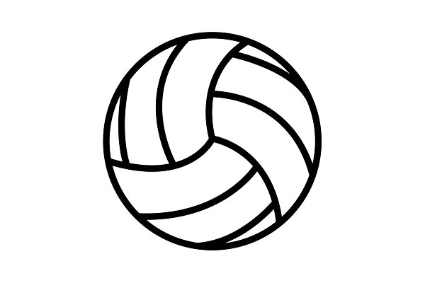 Volleyball Ball Vector Illustration Pre Designed Photoshop Graphics Creative Market