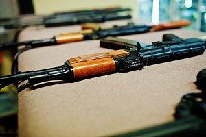 machine guns on shooting range