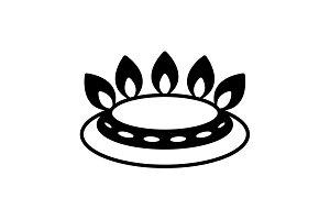 gas burner icon. vector design black