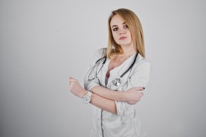 doctor nurse with stethoscope