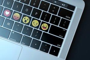 Emojis over keyboard